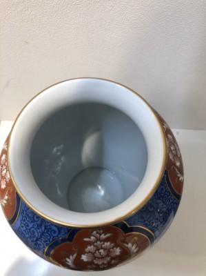 11278☆有田焼 肥前焼 哲山作 花瓶 花器 花入 骨董品 古美術品 _画像4