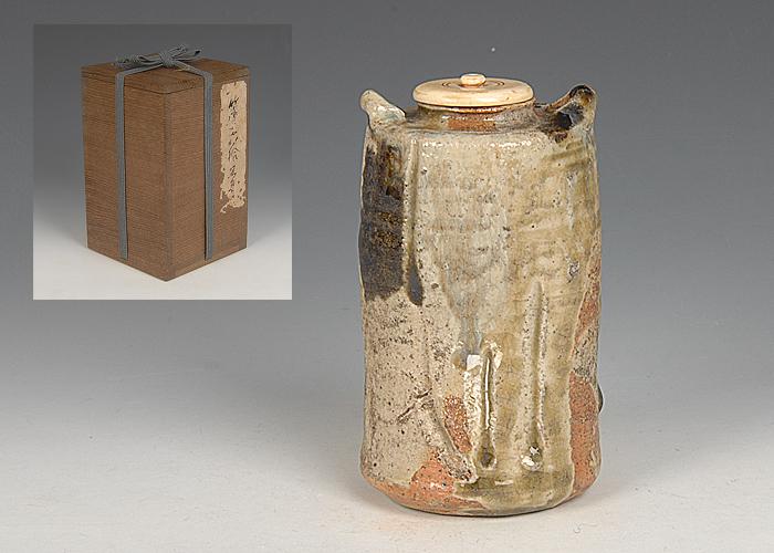 ■昔の夢■n53 時代 信楽茶入 濃茶入 合箱 茶道具
