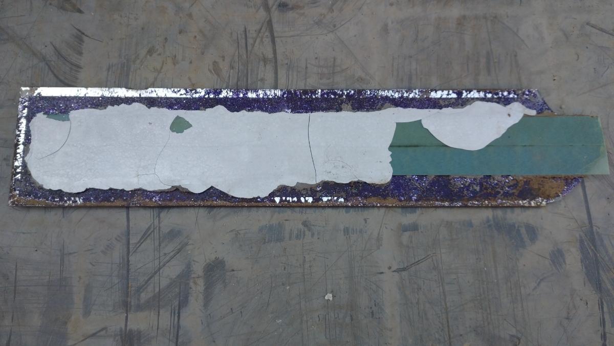 トラック 最大積載 プレート 紫ラメ 2800kg ジャンク_画像2