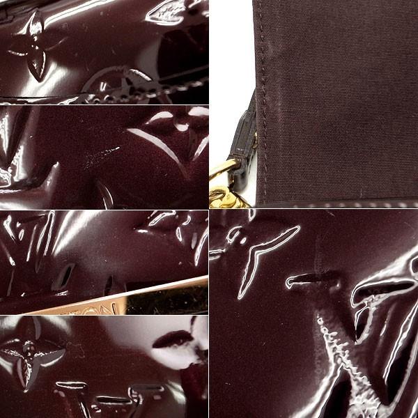 【緑屋質屋】ルイヴィトン M91549 ロスモアMM ヴェルニ/アマラント【中古】_画像3