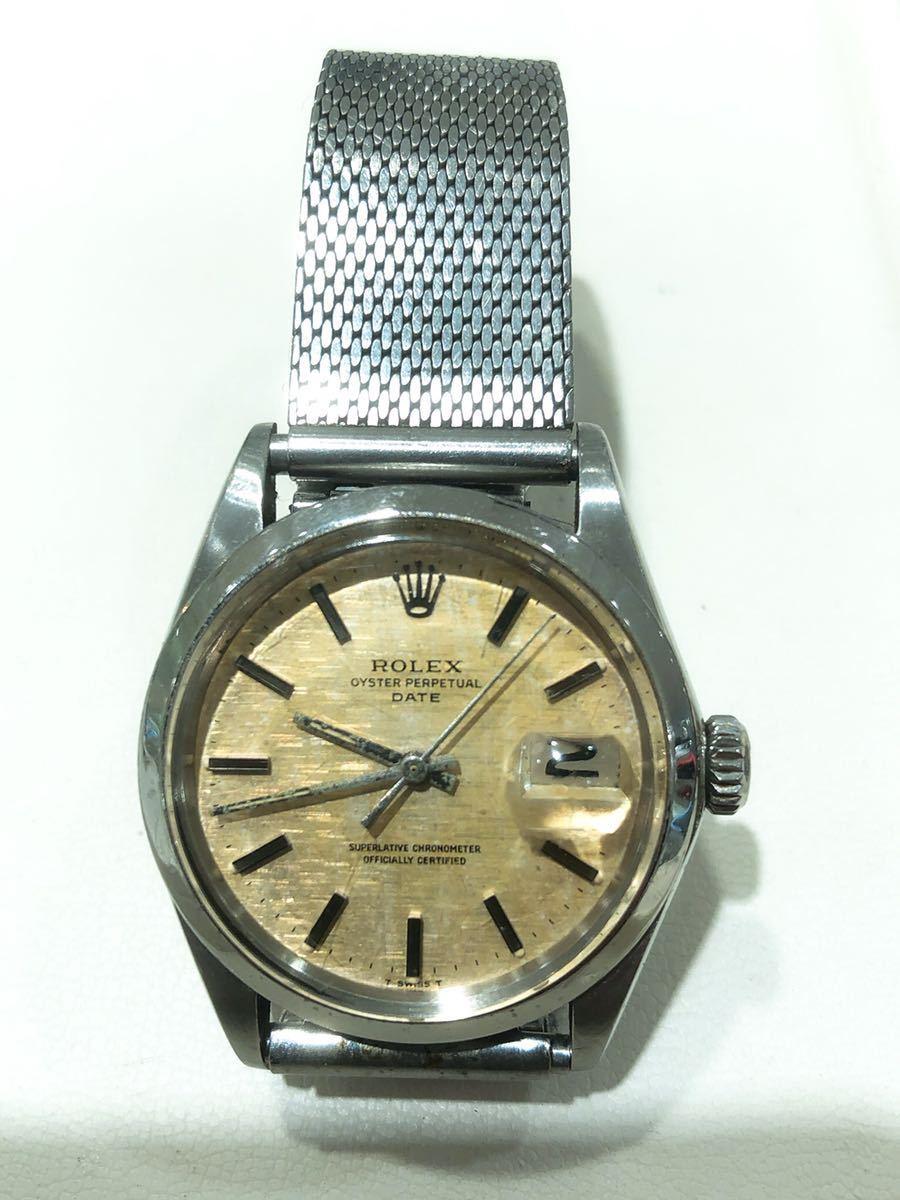 ロレックス【Ref.1500】オイスターデイトAT 自動巻 cal.1570 ヴィンテージ メンズ 腕時計