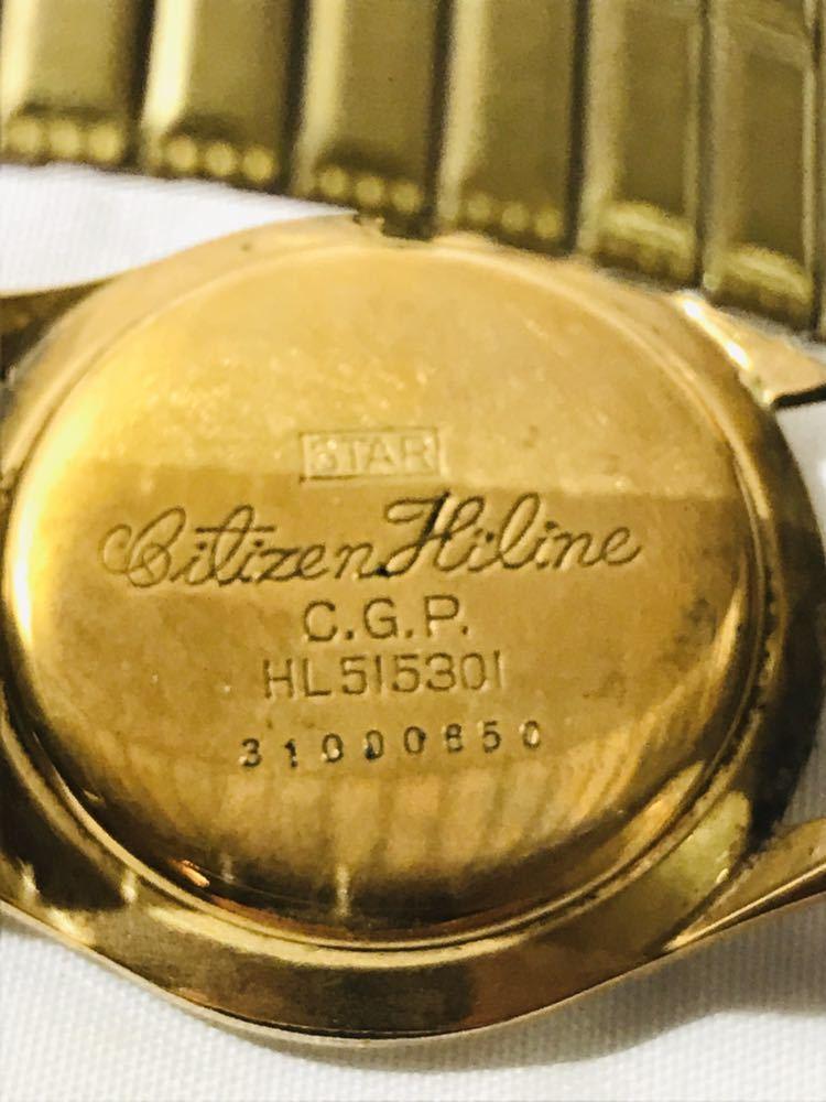 ZH045 CITIZEN シチズン Hiline ハイライン 23石 HL515301 手巻き アナログ ゴールド ジャンク_画像6