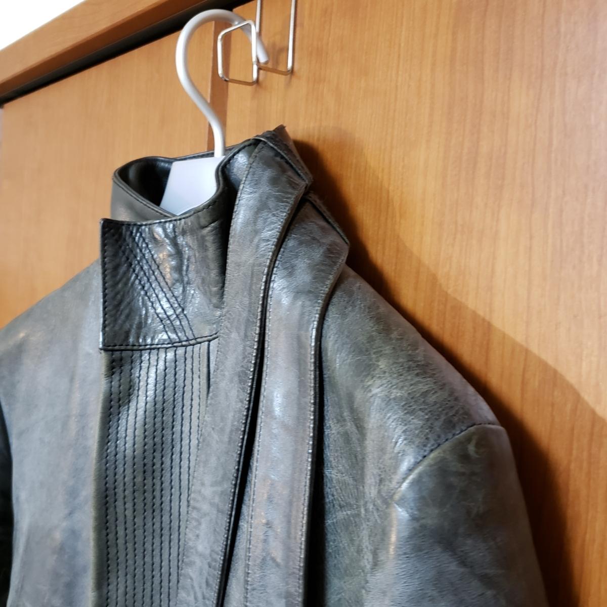 【激レア】 Dior Homme 03'LUSTER期 エディスリマン レザーライダース 44 Hedi Slimane ディオールオム_画像3