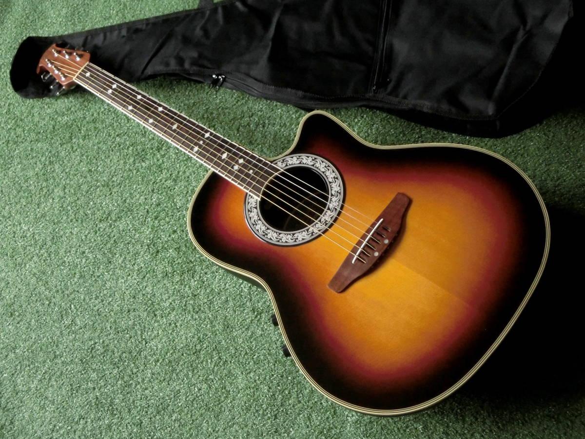 即決 Ovation 良音エレアコギター オベーション製エレクトリックアコースティックギター CC57 茶ブラウン 新品アコギ用ケース付屬