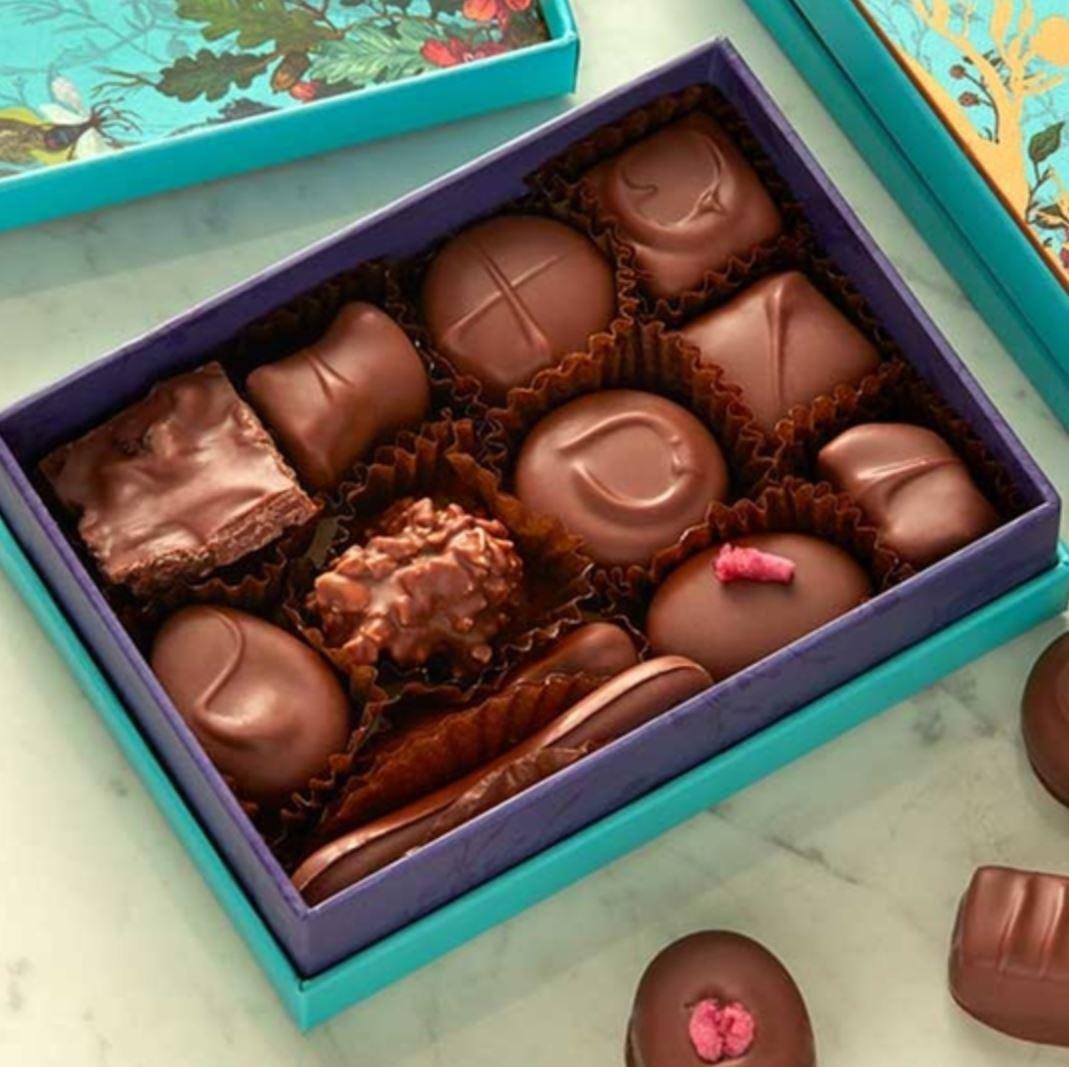 バレンタインにも【ミルクチョコレート・セレクションボックス 120g】ひと粒ずつが宝もの~フォートナム&メイソン