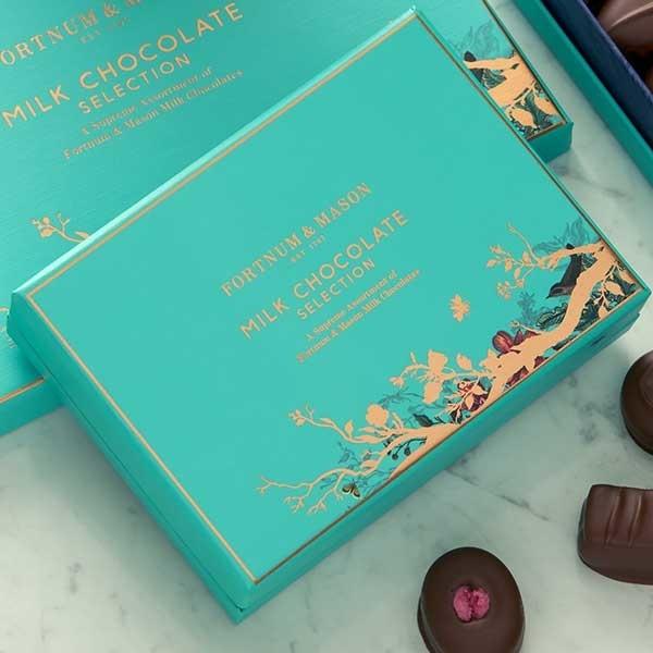 バレンタインにも【ミルクチョコレート・セレクションボックス 120g】ひと粒ずつが宝もの~フォートナム&メイソン_画像2
