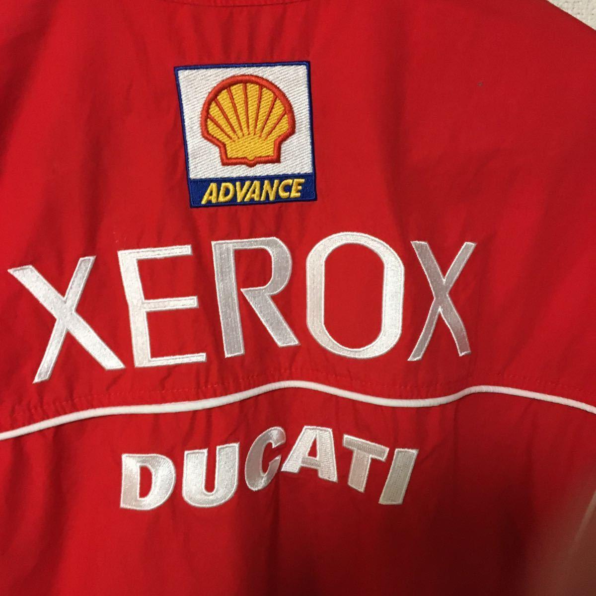 Ducati Corse Xerox super мотоцикл DUCATI CORSE XEROX короткий рукав кнопка рубашка женский / мужской tops красный