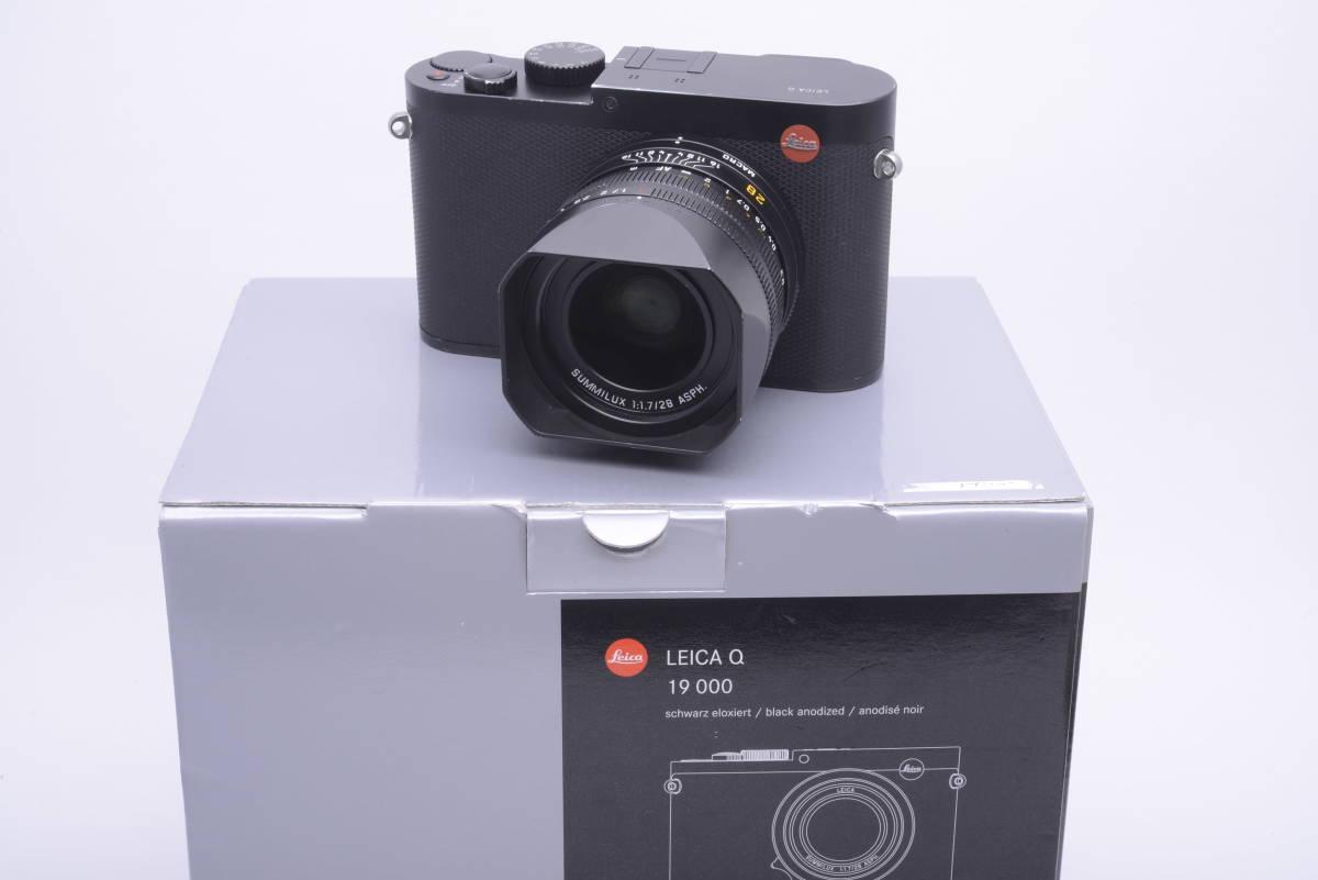 ★1円~最低落札価格ナシ★LEICA ライカ Q (Typ116) ブラック 元箱、付属品一式 最高峰フルサイズセンサー搭載コンデジ