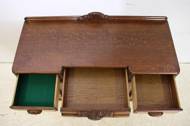 アンティーク家具 収納家具 sb-12 1960年代 イギリス製 アンティーク ソリッドオーク アールデコ カーブド サイドボード ビンテージ_画像4