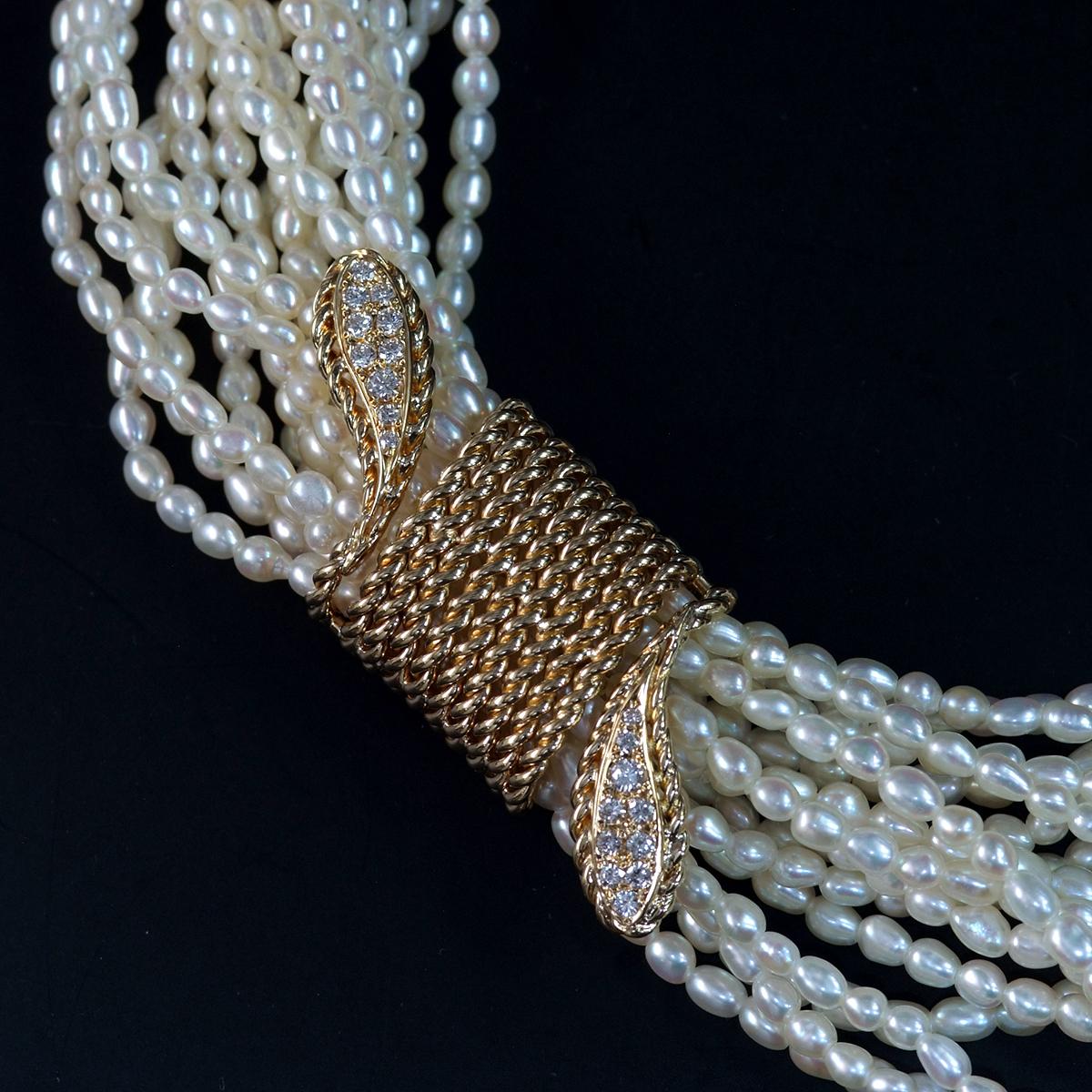 F0211【MIKIMOTO 1899】ミキモト パール 天然絶品ダイヤモンド0.33ct 最高級18金/14金無垢ネックレス 長さ42cm 重量87.5g 縦幅18.6mm_画像1