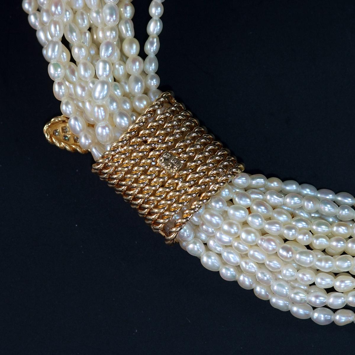 F0211【MIKIMOTO 1899】ミキモト パール 天然絶品ダイヤモンド0.33ct 最高級18金/14金無垢ネックレス 長さ42cm 重量87.5g 縦幅18.6mm_画像3