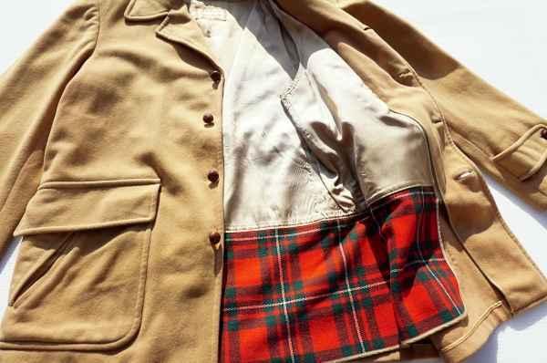 ◆ 50's McGREGOR マクレガー ウールジャケット ハーフコート 38 M ベージュ/ビンテージ オールド アメリカ古着 レトロ ロカビリー_画像6