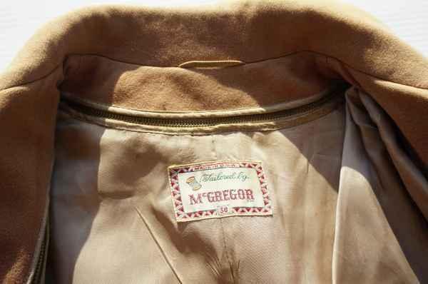 ◆ 50's McGREGOR マクレガー ウールジャケット ハーフコート 38 M ベージュ/ビンテージ オールド アメリカ古着 レトロ ロカビリー_画像7