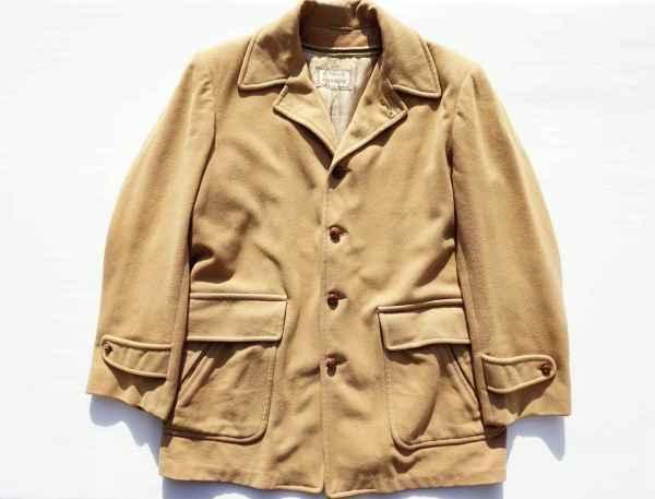 ◆ 50's McGREGOR マクレガー ウールジャケット ハーフコート 38 M ベージュ/ビンテージ オールド アメリカ古着 レトロ ロカビリー_画像1