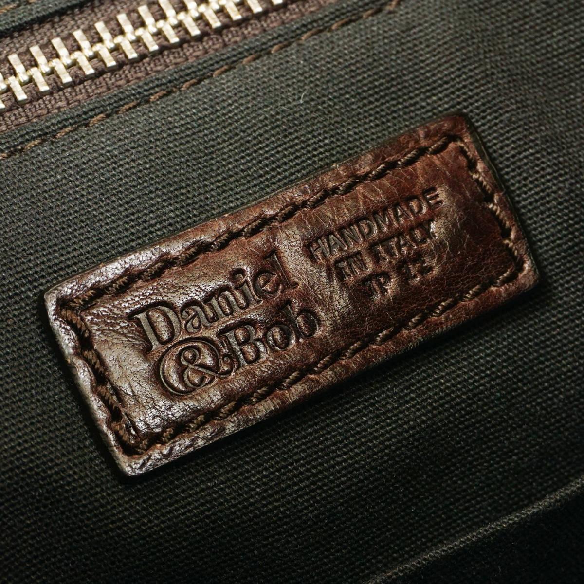 定価9万 美品 Daniel&Bob ORFEO 3way RODI ショルダーバッグ ITALY製 茶 ブラウン オールレザー 牛革 ダニエル&ボブ 管理127_画像10