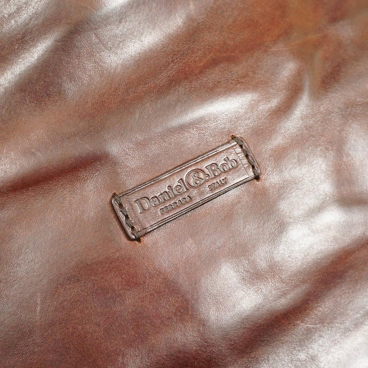 定価9万 美品 Daniel&Bob ORFEO 3way RODI ショルダーバッグ ITALY製 茶 ブラウン オールレザー 牛革 ダニエル&ボブ 管理127_画像6