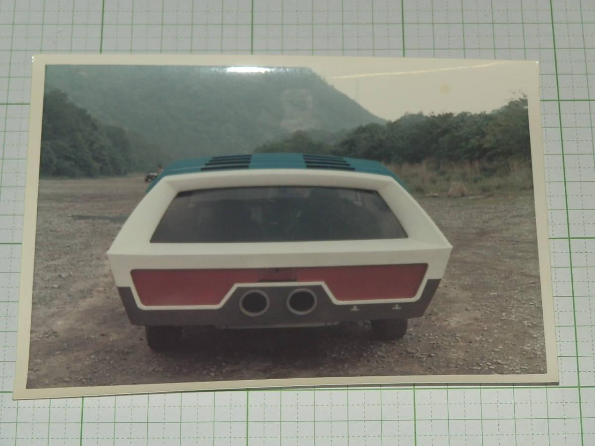 大判生写真 トリプルファイター 12 SATカー 後ろ 放送当時 フジカラー ブロマイド カード 資料写真_画像1