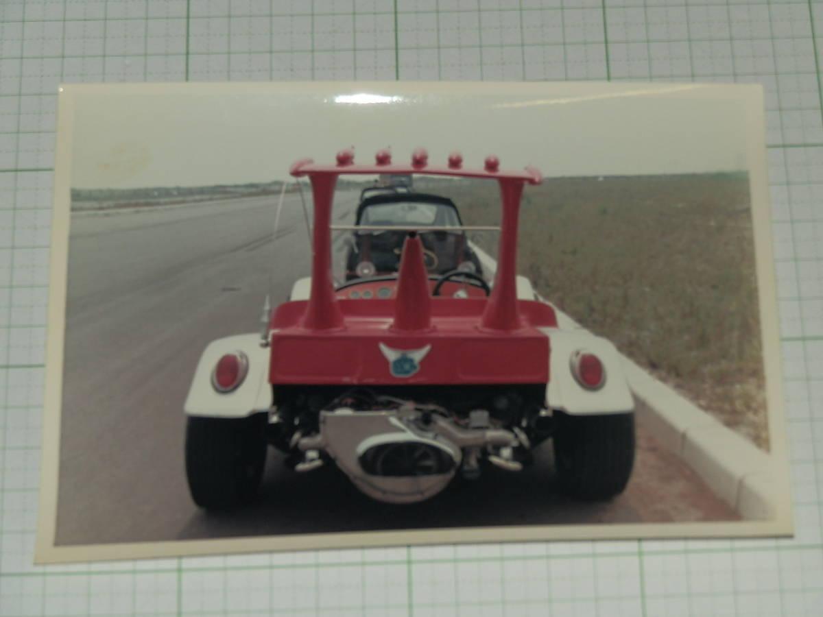 大判生写真 トリプルファイター 15 SATバギー 後ろ 放送当時 フジカラー ブロマイド カード 資料写真_画像1