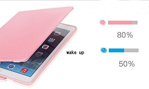 ipad mini4 レザーケース ミニ4 カバー ipad mini4 キルティングケース アイパッドミニ4 カバー 全面保護 360度回転 カード収納 ピンク_画像6