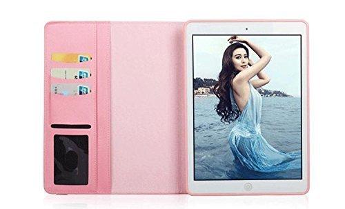 ipad mini4 レザーケース ミニ4 カバー ipad mini4 キルティングケース アイパッドミニ4 カバー 全面保護 360度回転 カード収納 ピンク_画像2