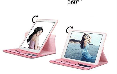 ipad mini4 レザーケース ミニ4 カバー ipad mini4 キルティングケース アイパッドミニ4 カバー 全面保護 360度回転 カード収納 ピンク_画像3