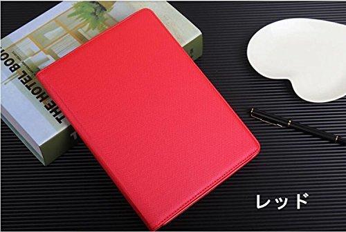 ipad mini4 レザーケース ミニ4 カバー ipad mini4 ケース アイパッドミニ4 カバー 全面保護 360度回転 カード収納 レッド_画像4