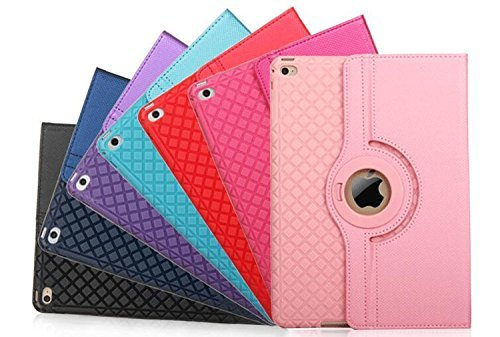 ipad mini4 レザーケース ミニ4 カバー ipad mini4 キルティングケース アイパッドミニ4 カバー 全面保護 360度回転 カード収納 ピンク_画像7
