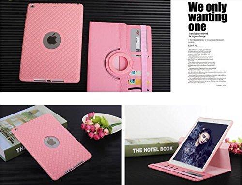 ipad mini4 レザーケース ミニ4 カバー ipad mini4 キルティングケース アイパッドミニ4 カバー 全面保護 360度回転 カード収納 ピンク_画像5