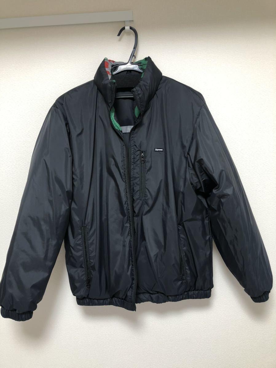 18AW Supreme NY Reversible Puffy Jacket シュプリーム 黒 ダウンジャケット_画像2