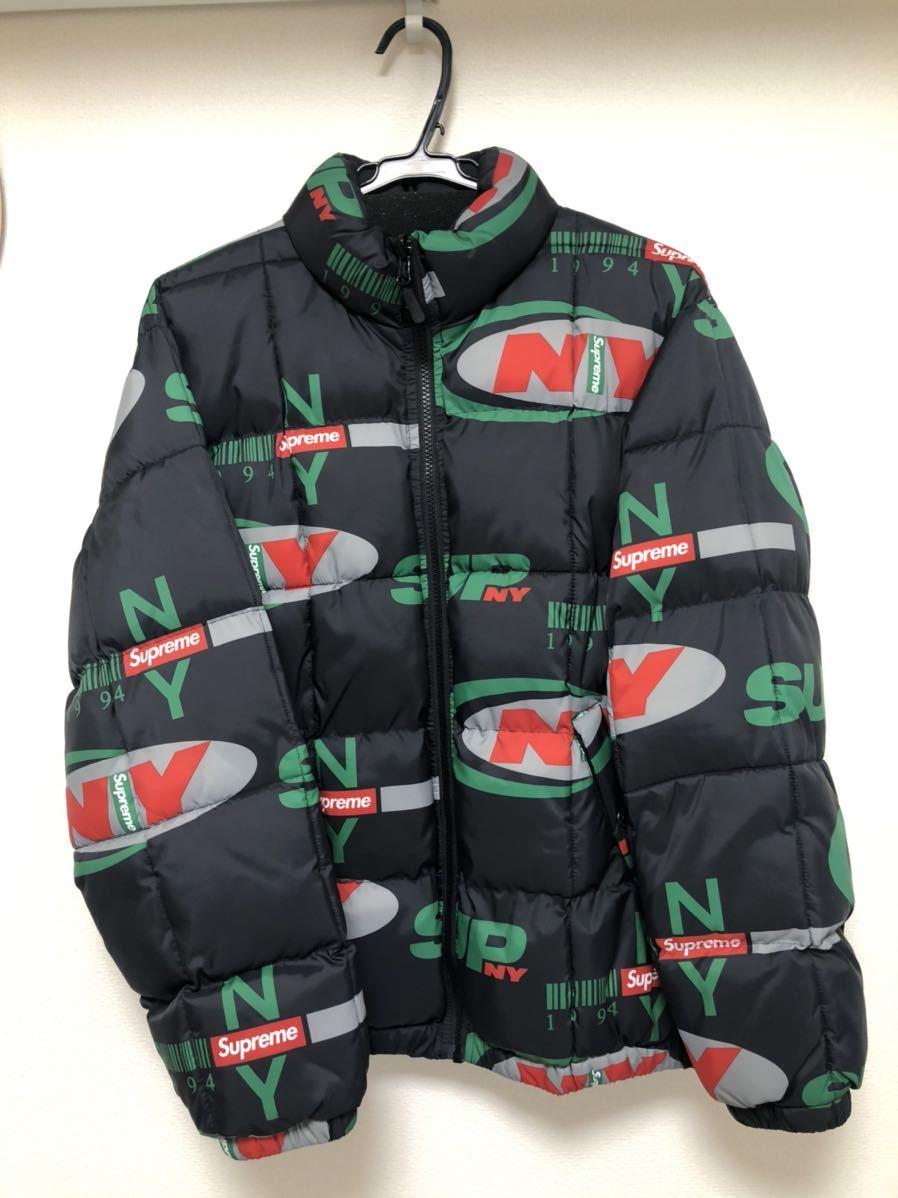 18AW Supreme NY Reversible Puffy Jacket シュプリーム 黒 ダウンジャケット