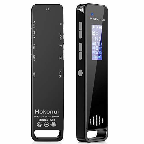 Hokonui ボイスレコーダー 大容量 16G 長時間録音 録音機 ICレコーダー 小型 1536kbps 高音質 専用録音チ_画像9