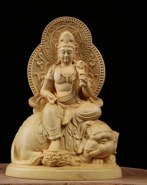 MD12仏教美術品 仏像 禅宗 普賢菩薩 仏像 東洋彫刻 立像 家飾り品 工芸品