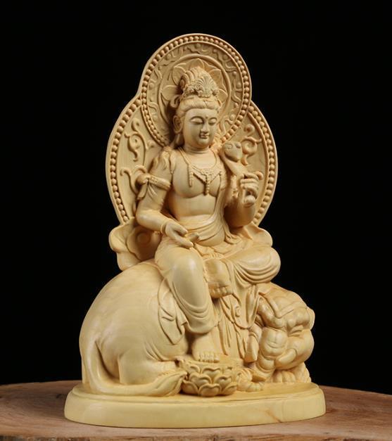 MD12仏教美術品 仏像 禅宗 普賢菩薩 仏像 東洋彫刻 立像 家飾り品 工芸品_画像3