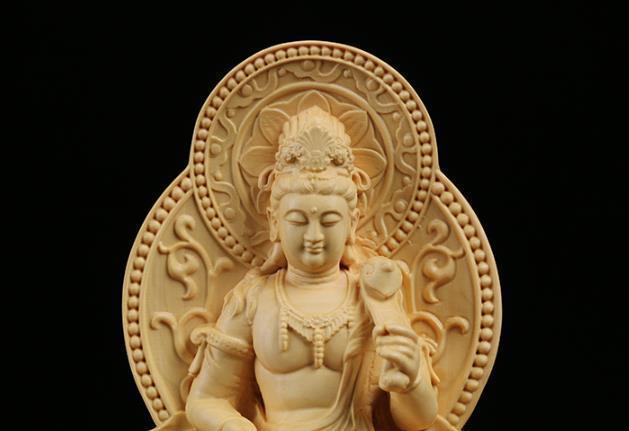 MD12仏教美術品 仏像 禅宗 普賢菩薩 仏像 東洋彫刻 立像 家飾り品 工芸品_画像5