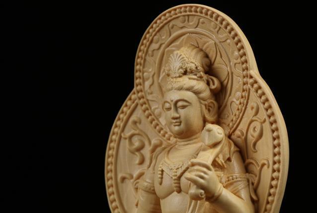 MD12仏教美術品 仏像 禅宗 普賢菩薩 仏像 東洋彫刻 立像 家飾り品 工芸品_画像6