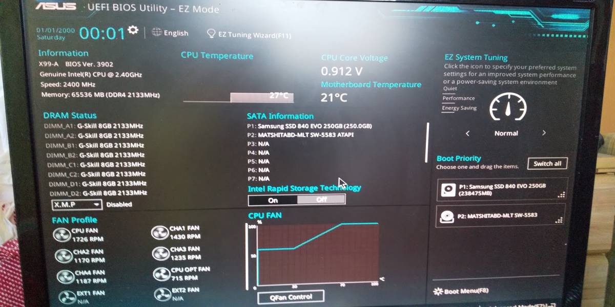 自作PC Xeon E5 2690v3(ES品) Asus X99-A メモリ64GB ZOTAC GTX670 2G SSD250G 電源500W_画像3