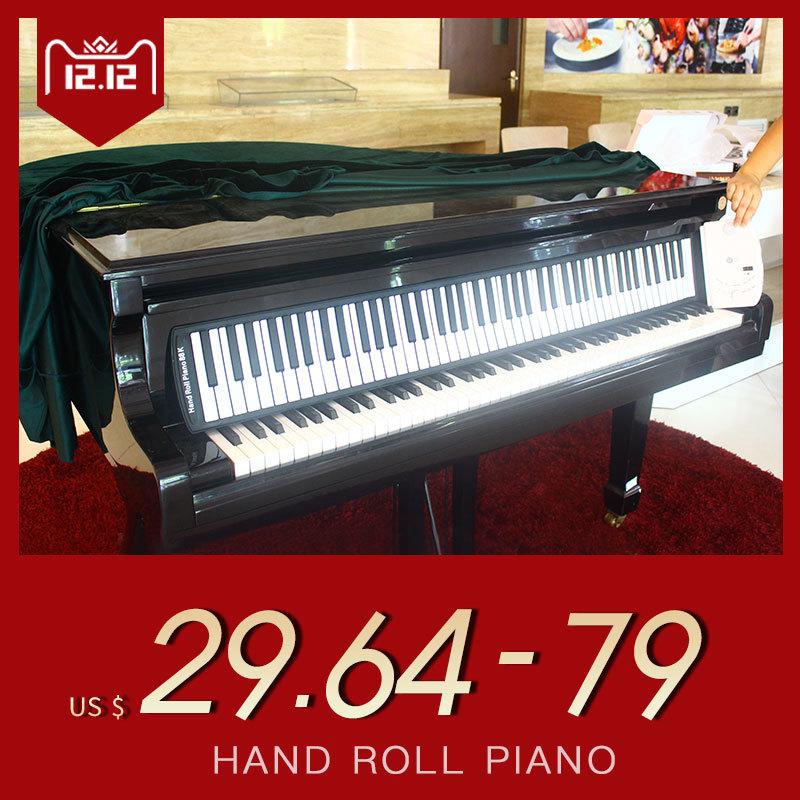 新品♪88キーピアノキーボードソフトポータブルミディデジタルコントローラシンセサイザーロールアップ電子楽器_画像1