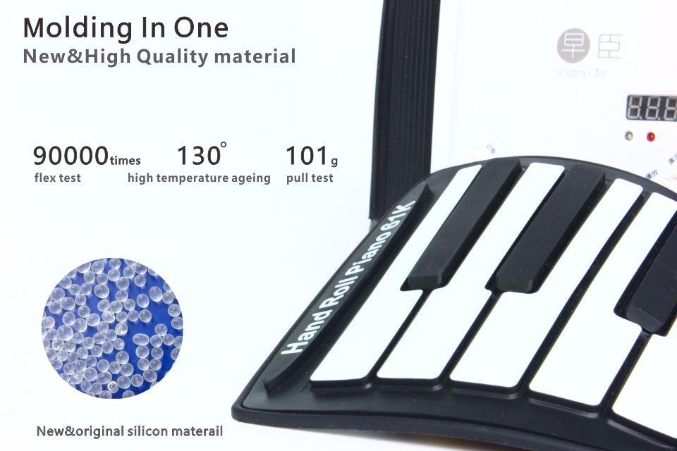 新品♪88キーピアノキーボードソフトポータブルミディデジタルコントローラシンセサイザーロールアップ電子楽器_画像3