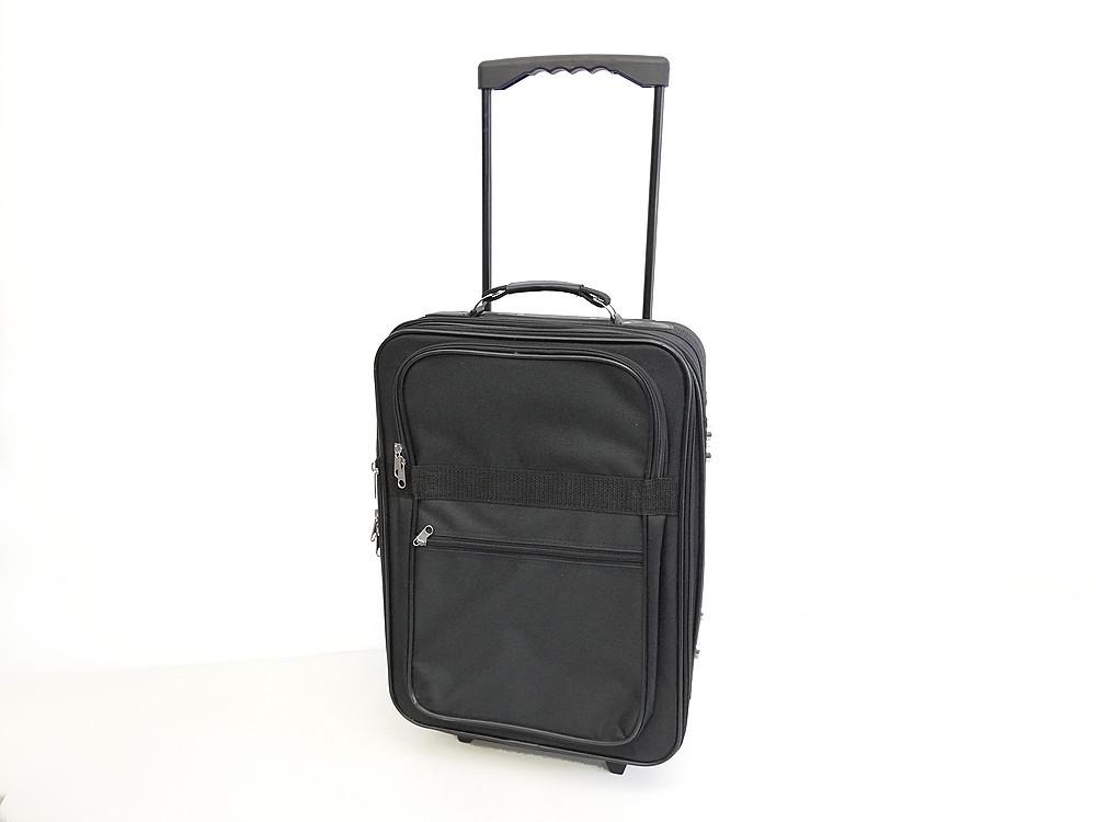 【お買い得】 ★ トローリーバッグ キャスター・鍵付き ★ ダブルキャスター トランクケース キャリーバッグ 旅行 スーツケース 黒