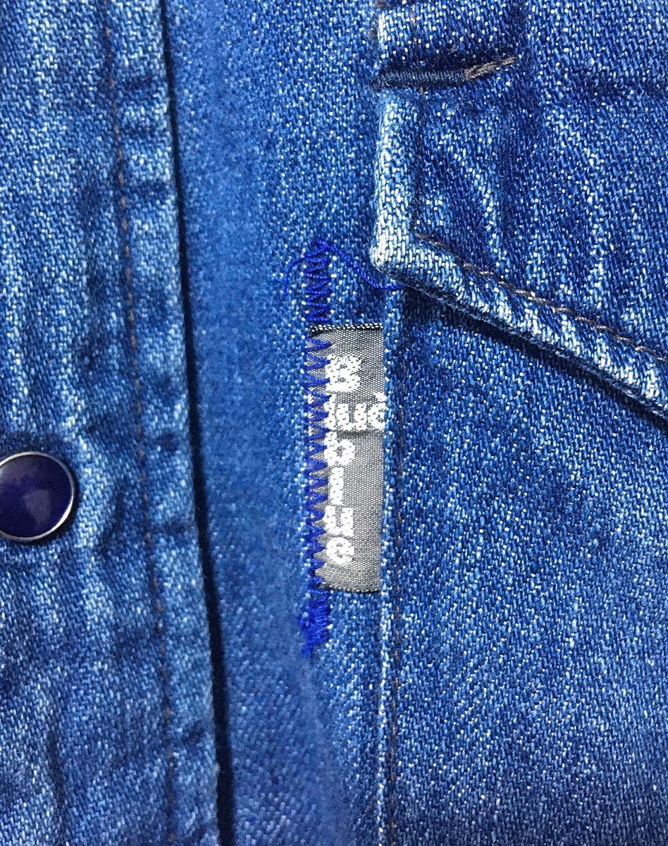 BLUE BLUE ブルーブルー 長袖 デニム素材 ウエスタンシャツ ハリウッドランチマーケット 裏地ポケット サイズ 1 日本製_画像5