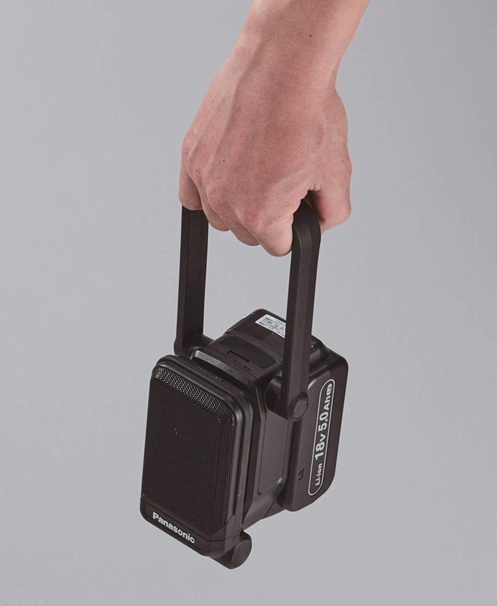 パナソニック EZ37C5-B 黒 bluetoothコンパクトワイヤレススピーカー 本体のみ 14.4V/18V/21.6V対応 アウトドア 持ち運び_画像3