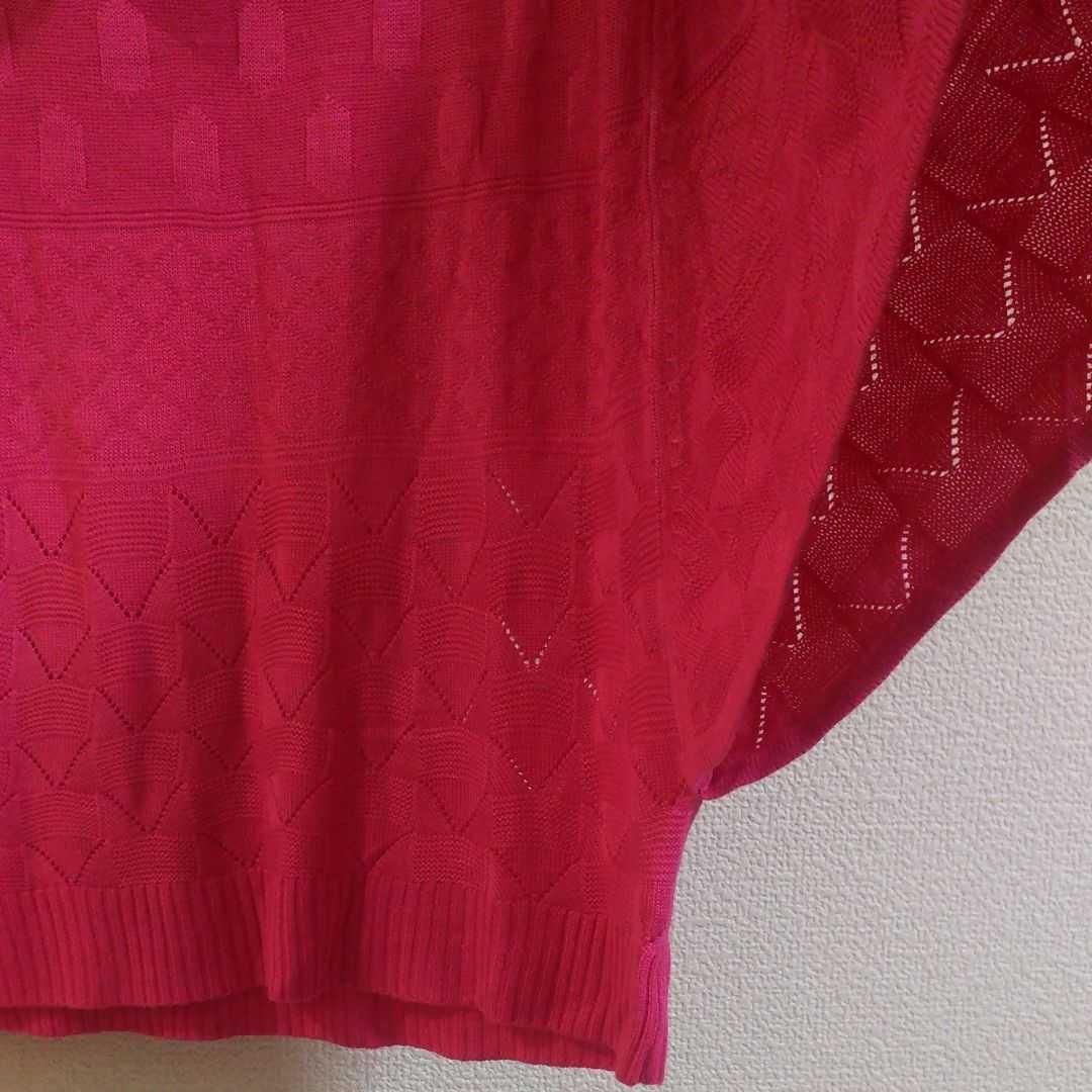 半袖 レーヨン トップスニット ピンク 新品