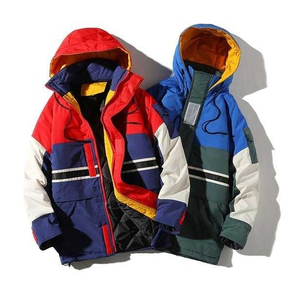 中綿コート メンズ 厚手コート ダウンジャケット アウター アウトドア 切り替え 防寒 秋冬 メンズファッション 1520_画像4