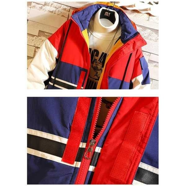 中綿コート メンズ 厚手コート ダウンジャケット アウター アウトドア 切り替え 防寒 秋冬 メンズファッション 1520_画像8
