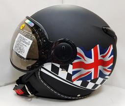 ZEUS MOMOスタイル パイロットヘルメット DD28 イギリス国旗 艶消し黒 XL(M、L相当)_画像1