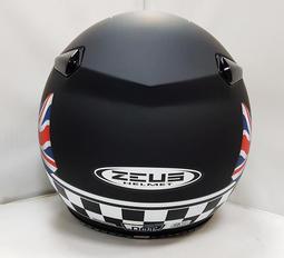 ZEUS MOMOスタイル パイロットヘルメット DD28 イギリス国旗 艶消し黒 XL(M、L相当)_画像2