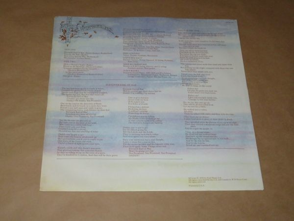 US盤★Wind & Wuthering / ジェネシス(Genesis)★LP_画像3