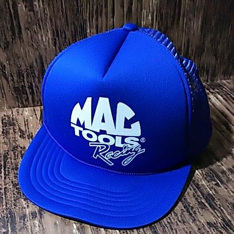 【宅急便コンパクト送料無料】マックツール レーシング 青 メッシュ 帽子 キャップ MAC TOOLS Racing Mesh Cap_画像1