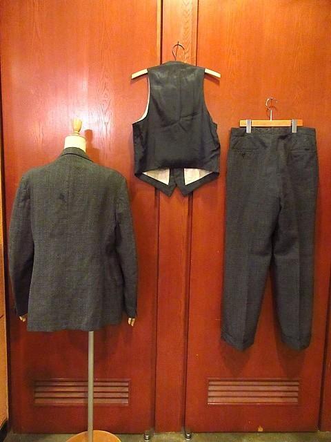 ビンテージ30's★HAMPTON HEATH 2Bスーツスリーピースグレー★191222s4-m-suit 1930sセットアップウールメンズ_画像2