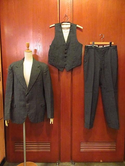 ビンテージ30's★HAMPTON HEATH 2Bスーツスリーピースグレー★191222s4-m-suit 1930sセットアップウールメンズ_画像1